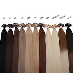 Χαμηλού Κόστους Εξτένσιονς μαλλιών με κόλλα-Neitsi Τούφα / Άκρη U Επεκτάσεις ανθρώπινα μαλλιών Ίσιο Εξτένσιον από Ανθρώπινη Τρίχα Φυσικά μαλλιά Γυναικεία
