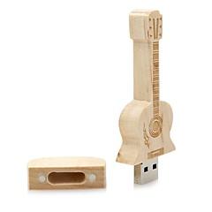 מוצרים Neutral Wooden Guitar 16GB USB 2.0 עמיד לזעזועים