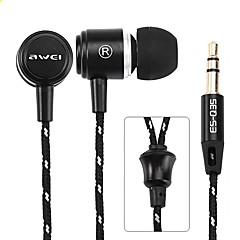 billiga Hörlurar med öronsnäckor-AWEI Q35 I öra Kabel Hörlurar Aluminum Alloy Sport & Fitness Hörlur mikrofon headset