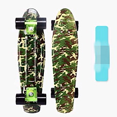 Standard Skateboards Plastic Camouflage Camouflage Red