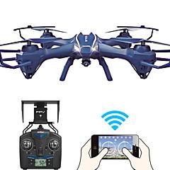 billige Fjernstyrte quadcoptere og multirotorer-RC Drone UDI R / C U818S WIFI 4 Kanaler 6 Akse 2.4G Med 720 P HD-kamera Fjernstyrt quadkopter FPV / LED Lys / En Tast For Retur Fjernstyrt Quadkopter / Fjernkontroll / Kamera / Hodeløs Modus