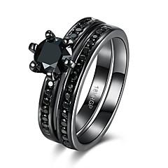 billige Motering-Dame Kubisk Zirkonium Ring - Zirkonium, Kubisk Zirkonium Luksus 6 / 7 / 8 Lilla / Grønn / Blå Til Bryllup / Fest / Daglig