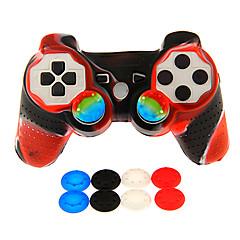 billiga PS3-tillbehör-Trådlös Game Controller Kit Till Sony PS3 ,  Originella Game Controller Kit Silikon / ABS 1 pcs enhet