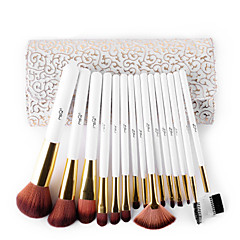 voordelige MSQ-15pcs Make-up kwasten professioneel Brush Sets Zwijnsborstel / Nylonkwast / Synthetisch haar Professioneel / synthetisch / Hypoallergeen