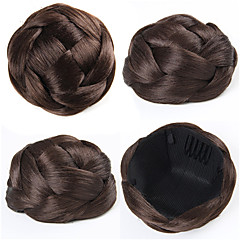 cheap Wigs & Hair Pieces-wedding bridal updo chignon bun clips synthetic straight hair extensions more colors