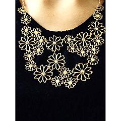 בגדי ריקוד נשים שרשראות הצהרה Flower Shape סגסוגת מתכווננת פסטיבל/חג תכשיטים תכשיטים עבור Party יומי