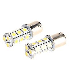 baratos Luzes Traseiras para Carros-1156 BA15S levou bulbo de carro 18 SMD 5050 para a volta do sinal / Estacionamento luz DC 12V (2 peças)
