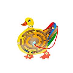 조립식 블럭 미로&순차 이동 퍼즐 루반 락 교육용 장난감 장난감 노블티 오리 나무 카툰 1 조각 남아 여아 생일 어린이날 선물