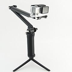 tanie Kamery sportowe i akcesoria GoPro-Polak teleskopowy / Monopod / Trójnóg Wielofunkcyjny Dla Kamera akcji Rollei Action Cam 410 / Rollei Action Cam 420 / GGopro 5/4/3/3+/2/1 Nurkowanie / Wojsko Plastik - 4pcs In 1 pcs