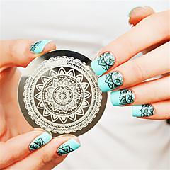 olcso -teljes virág design köröm bélyeg bélyegzés sablon képe lemez köröm dekoráció köröm sablon