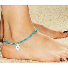 baratos Bijoux de Corps-Tornezeleira - Europeu, Fashion Azul LED Mão Hamsa Para Casamento / Festa / Diário / Mulheres