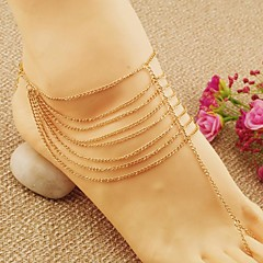 Women's Anklet/Bracelet Alloy Tassel Fashion European Multi Layer Jewelry For Wedding Party Daily Casual