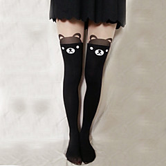 Socks/Stockings Sweet Lolita Lolita Lolita Lolita Accessories Stockings Print For Velvet