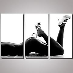 billiga Nude Art-Tryck HANDMÅLAD - Stilleben Realism / Moderna Inkludera innerram
