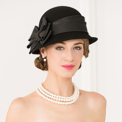 Wool Fabric Hats Headpiece Wedding Party Elegant Feminine Style