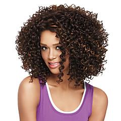 billiga Peruker och hårförlängning-Syntetiska peruker Afro Bob-frisyr Syntetiskt hår Brun Peruk Dam Mellan Utan lock Beige