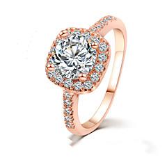 指輪 女性用 クリスタル 合金 合金 6 / 7 / 8 / 9 ゴールド / 銀 装飾物のカラーは画像をご参照ください.