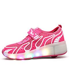 아동 스케이트 신발 LED 조명 안티 슬립 쿠션 내구성 조절 가능 클로버/옐로우/블루/핑크