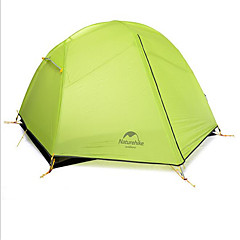 Naturehike 2 persons Tent Shelter & Tarp Double Camping Tent One Room Backpacking Tents Well-ventilated Waterproof Quick Dry Windproof