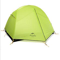 Naturehike 2 personer Telt Beskyttelse & Presenning Dobbelt camping Tent Ett Rom Turtelt Velventilert Vanntett Fort Tørring Vindtett