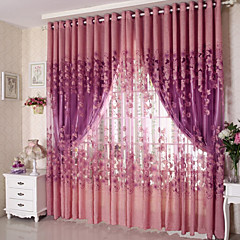 cheap Window Treatments-Sheer Curtains Shades Living Room Polyester Jacquard