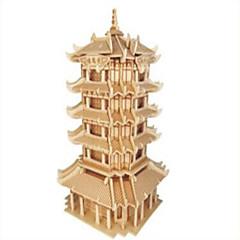 Puzzles Holzpuzzle Bausteine DIY Spielzeug Kämpfer Berühmte Gebäude Chinesische Architektur 1 Holz Elfenbein Model & Building Toy