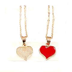 Χαμηλού Κόστους Κρεμαστό με Αλυσίδα-Γυναικεία Κρεμαστά Κολιέ - Καρδιά, Love Μοντέρνα Λευκό, Μαύρο, Κόκκινο Κολιέ Κοσμήματα Για Πάρτι
