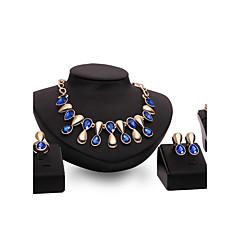 baratos Conjuntos de Bijuteria-Mulheres Empilhável Conjunto de jóias - Caído Punk Incluir Roxo / Azul Para Casamento / Festa / Diário / Anéis