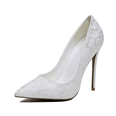 Women's Heels Spring Summer Fall Winter Wedding Stiletto Heel White