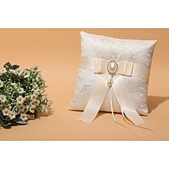 marfim 1 fitas arco faux pérola strass cerimônia de casamento de renda de cetim