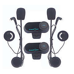 2pcs / lot freedconn 800m motorfiets ruiters intercom hlmet headset met FM radio