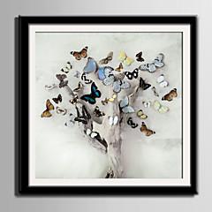 baratos Quadros com Moldura-Quadros Emoldurados Conjunto Emoldurado Animais Floral/Botânico Arte de Parede, PVC Material com frame Decoração para casa Arte Emoldurada