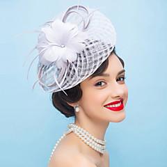 フラワーフェザーの魅惑の花のヘッドピースクラシックな女性のスタイル