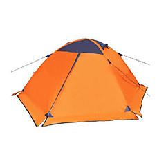 2人 テント ダブル キャンプテント 1つのルーム 通気性 防水 携帯用 防風 防雨 防塵 折り畳み式 フランネル裏地 蚊・虫除け のために 釣り ビーチ キャンピング 旅行 屋外 アルミ PUレザー オックスフォード cm