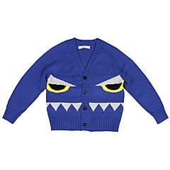 tanie Odzież dla dziewczynek-Sweter /  sweter rozpinany Bawełna Uniseks Szkoła Wyjściowe Codzienne Żakard Wielokolorowa Wzór zwierzęcy Wiosna Jesień Zima Długi rękaw