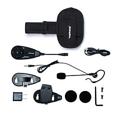 vnetphone merk 5 voetbal scheidsrechter intercom 1200m motorfiets bluetooth intercom full duplex intercom headset met armband
