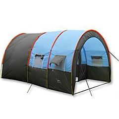 5-8 osob Stříška Tünel Çadırı Jednoduchý Camping Tent dva pokoje Rodinné stany Voděodolný Přenosný Větruvzdorné Odolné vůči dešti Odolné