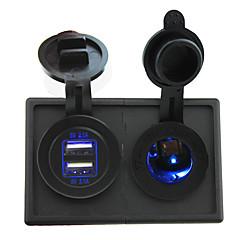 billige Autodele-12v / 24v førte stikkontakten og 4.2a Dual USB Port med holder boliger panel til bil båd lastbil rv