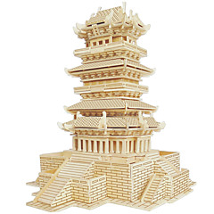 Jigsaw Puzzles Wooden Puzzles Building Blocks DIY Toys Guanque Tower 1 Wood Ivory Model & Building Toy