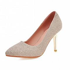 olcso -Kényelmes Újdonság-Stiletto-Női cipő-Magassarkúak-Esküvői Irodai Ruha Alkalmi Party és Estélyi-Szintetikus PU-Kék Lila Ezüst Arany