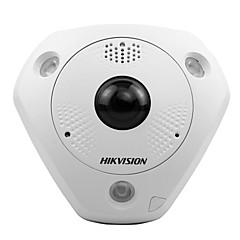 HIKVISION® DS-2CD6362F-IVS 6MP Fish-eye Network Camera Indoor (Waterproof Motion Detection15m IR PoE Bulit-in Microphone and Speaker Virtual PTZ)