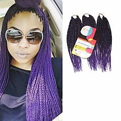 billiga Peruker och hårförlängning-Senegal Syntetiskt hår Hårförlängningar av äkta hår twist Flätor Hårflätor Dagligen