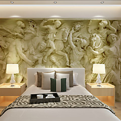 cheap Wall Art-Large 3D Stereo Wallpaper Mural Gray Large Relief Background Wall Room Living Bedroom TV Background Wall