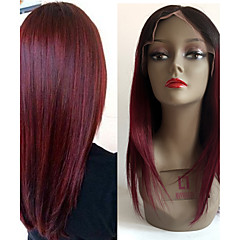 cheap Wigs & Hair Pieces-Remy Human Hair Full Lace Wig Brazilian Hair Straight Wig 130% Density with Baby Hair Ombre Hair Natural Hairline African American Wig 100% Hand Tied Women's Short Medium Length Long Human Hair Lace