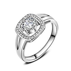 preiswerte -Ringe Hochzeit Party Besondere Anlässe Alltag Normal Schmuck Zirkon Ring Verlobungsring Bandringe 1 Stück,6 7 8 9 10 Silber