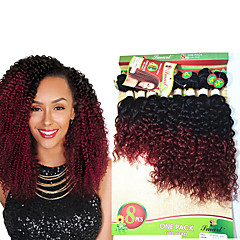 cheap Ombre Hair Weaves-8 14inch 8 pcs lot brazilian deep curly ombre burgundy color virgin hair brazilian virgin hair kinky curly hair weave bundles cheap human hair