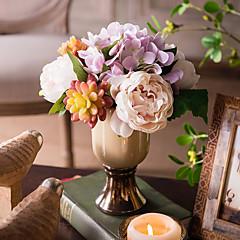ieftine -1 ramură Hydrangeas Bujori Plante Flori artificiale