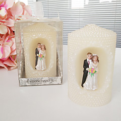 Bride And Groom Pearl Cylindricality Candle