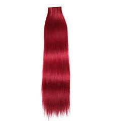Χαμηλού Κόστους Deluxe Hair-Με Ταινία Επεκτάσεις ανθρώπινα μαλλιών Ίσιο Εξτένσιον από Ανθρώπινη Τρίχα Φυσικά μαλλιά Γυναικεία