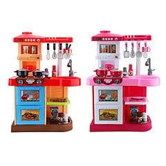 billiga Leksaker och spel-beiens Barn Cooking Appliances LED-belysning Ljud ABS Flickor Barn Present 35pcs
